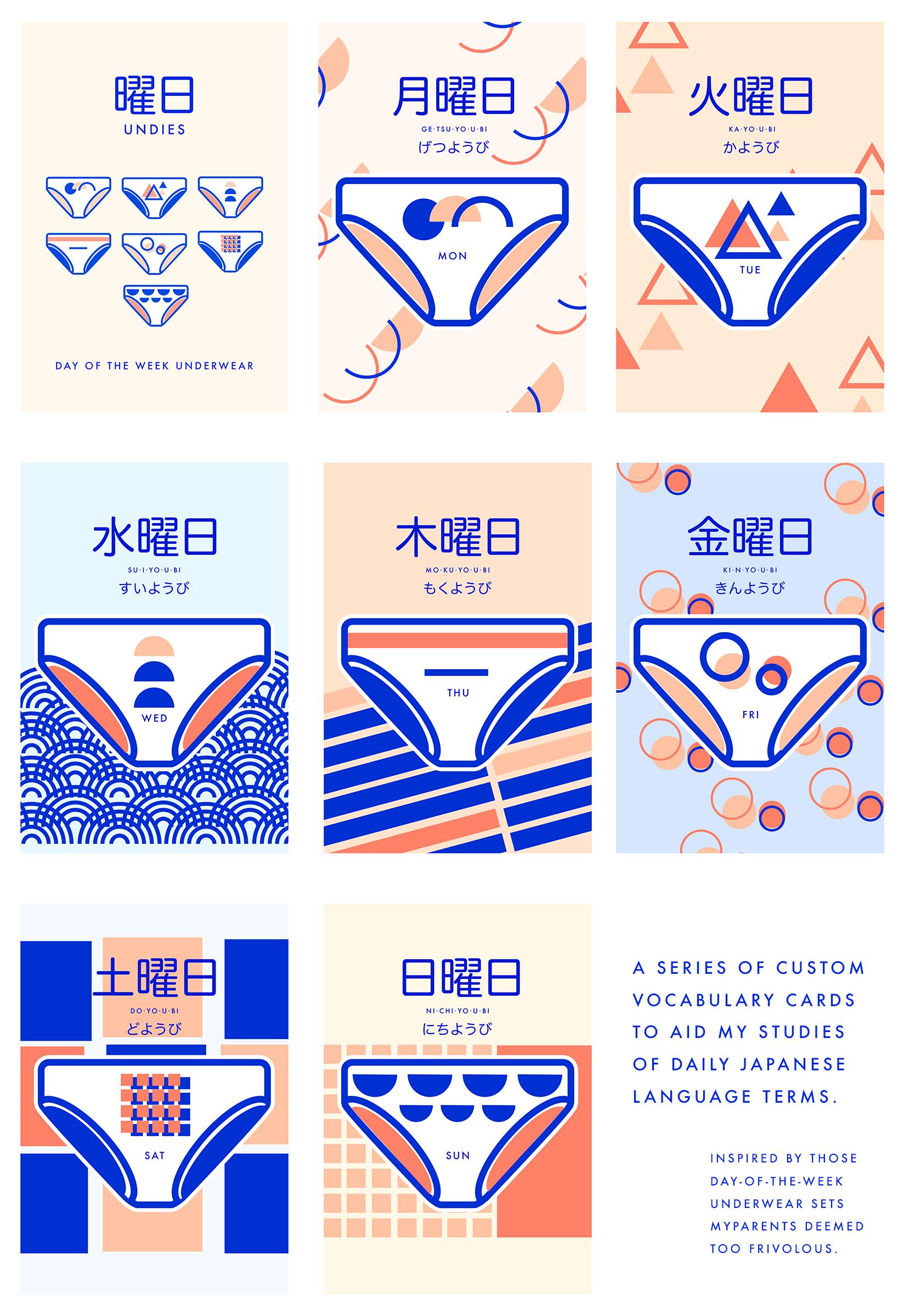 You-bi Undies: Day of the Week Underwear