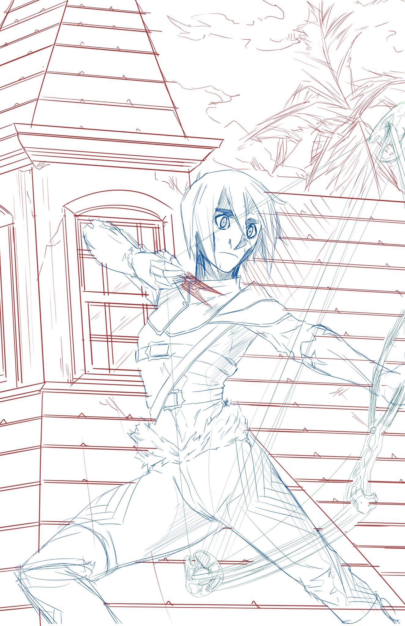 Mikola takes aim (sketch)
