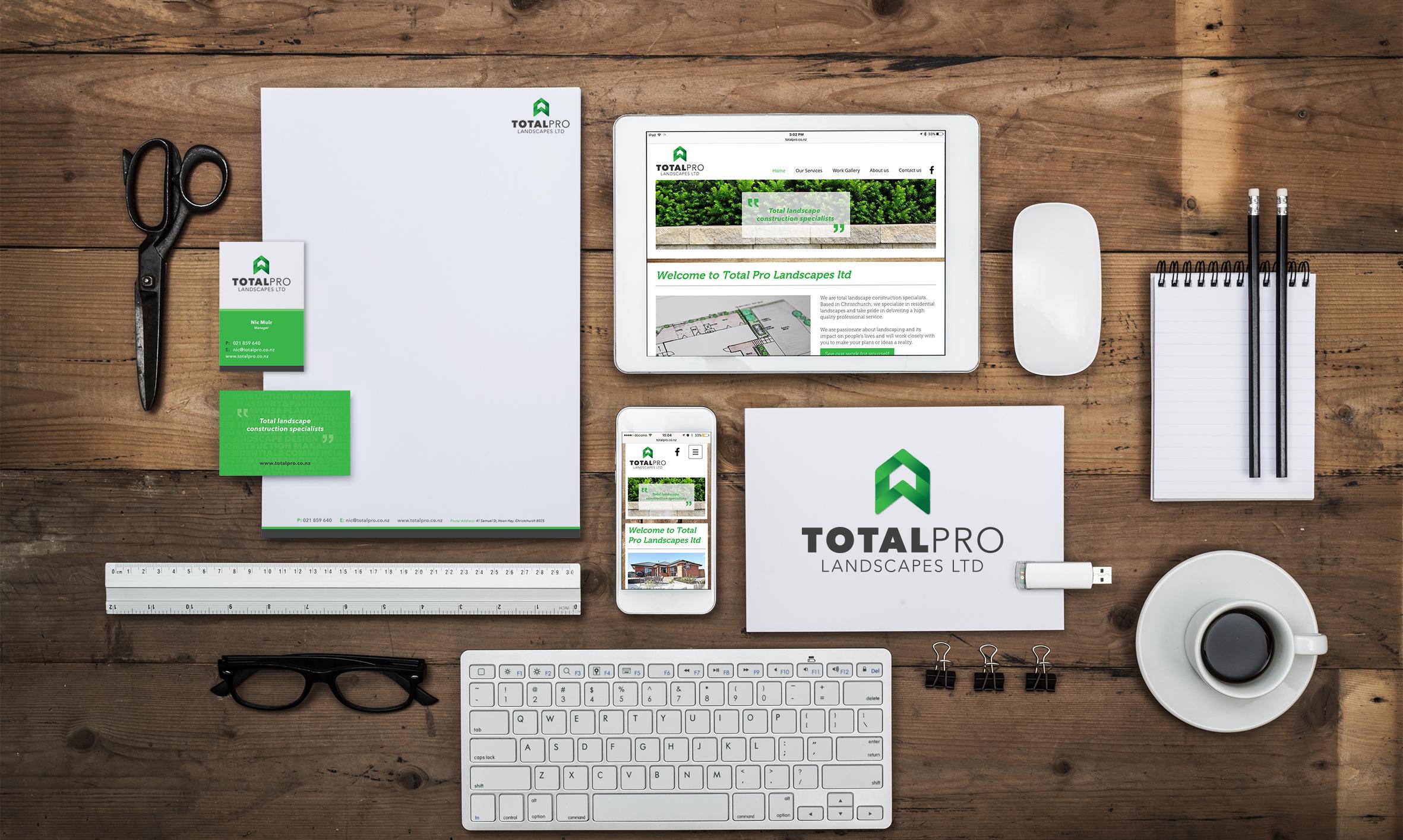 Total Pro Landscapes Branding