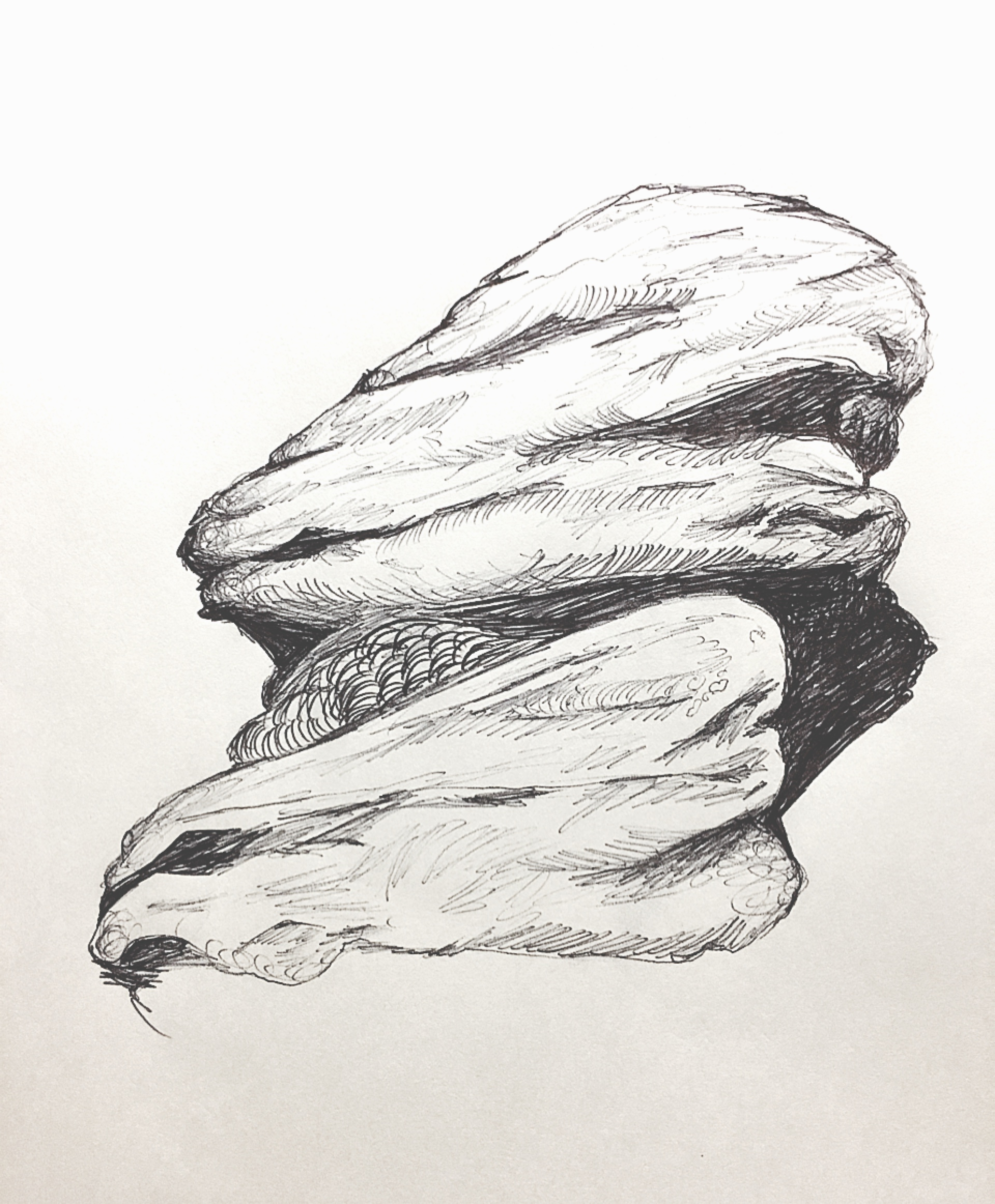 Late night doodle ; Rocks on Dartmoor