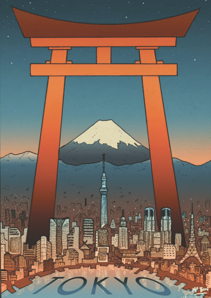 Tokyo City Travel Poster