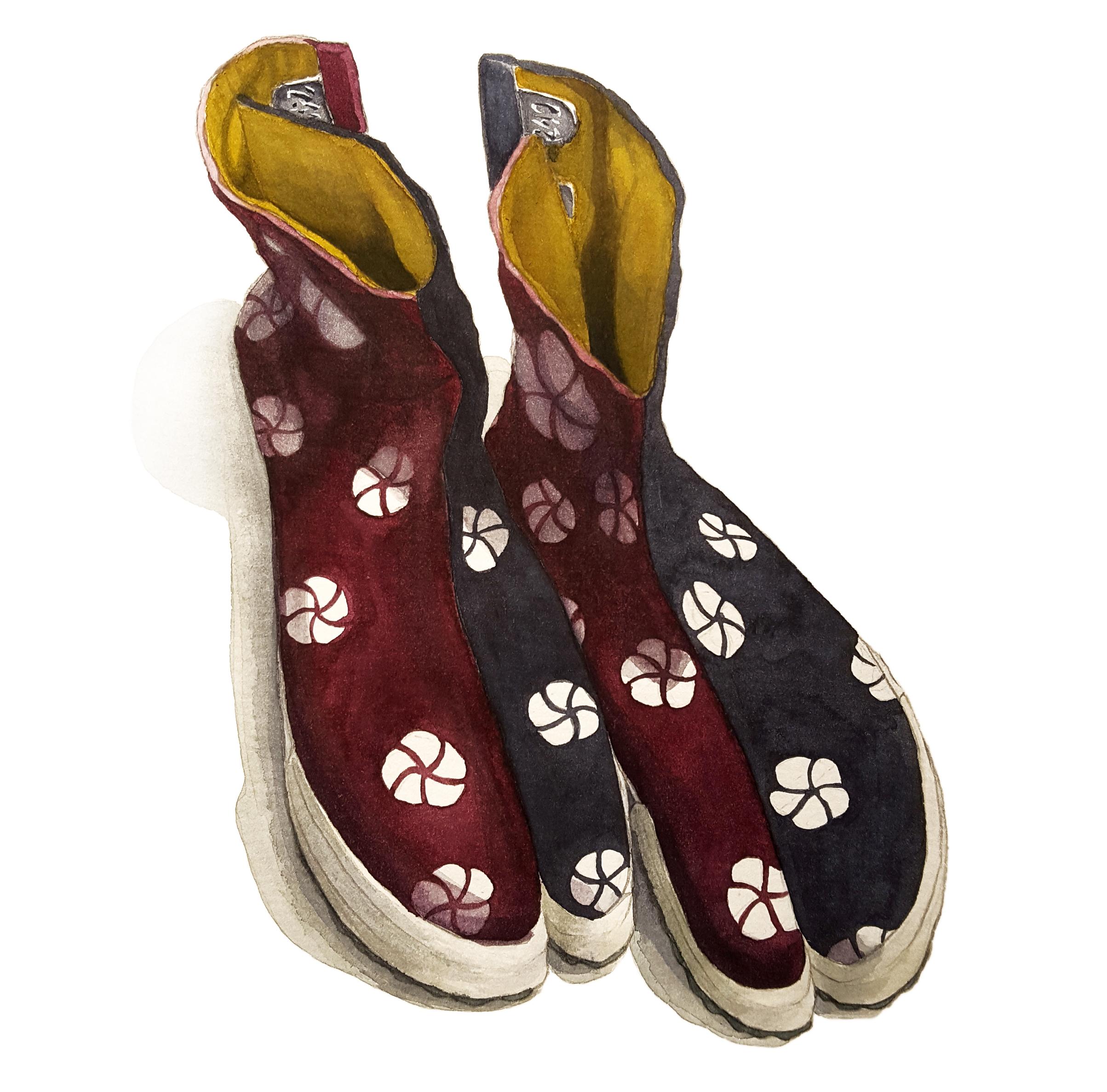 Jika-tabi boots