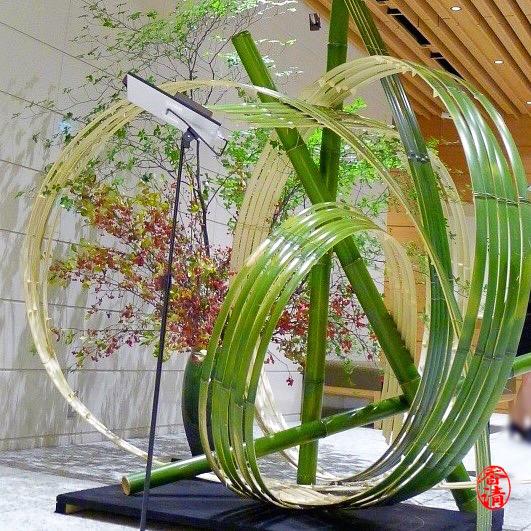 Bamboo installation at Ginza 6