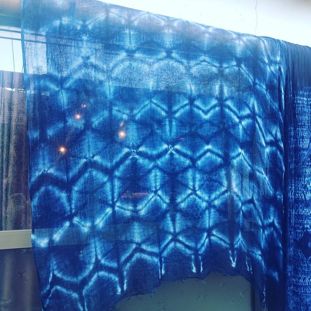 Hexagon Shibori