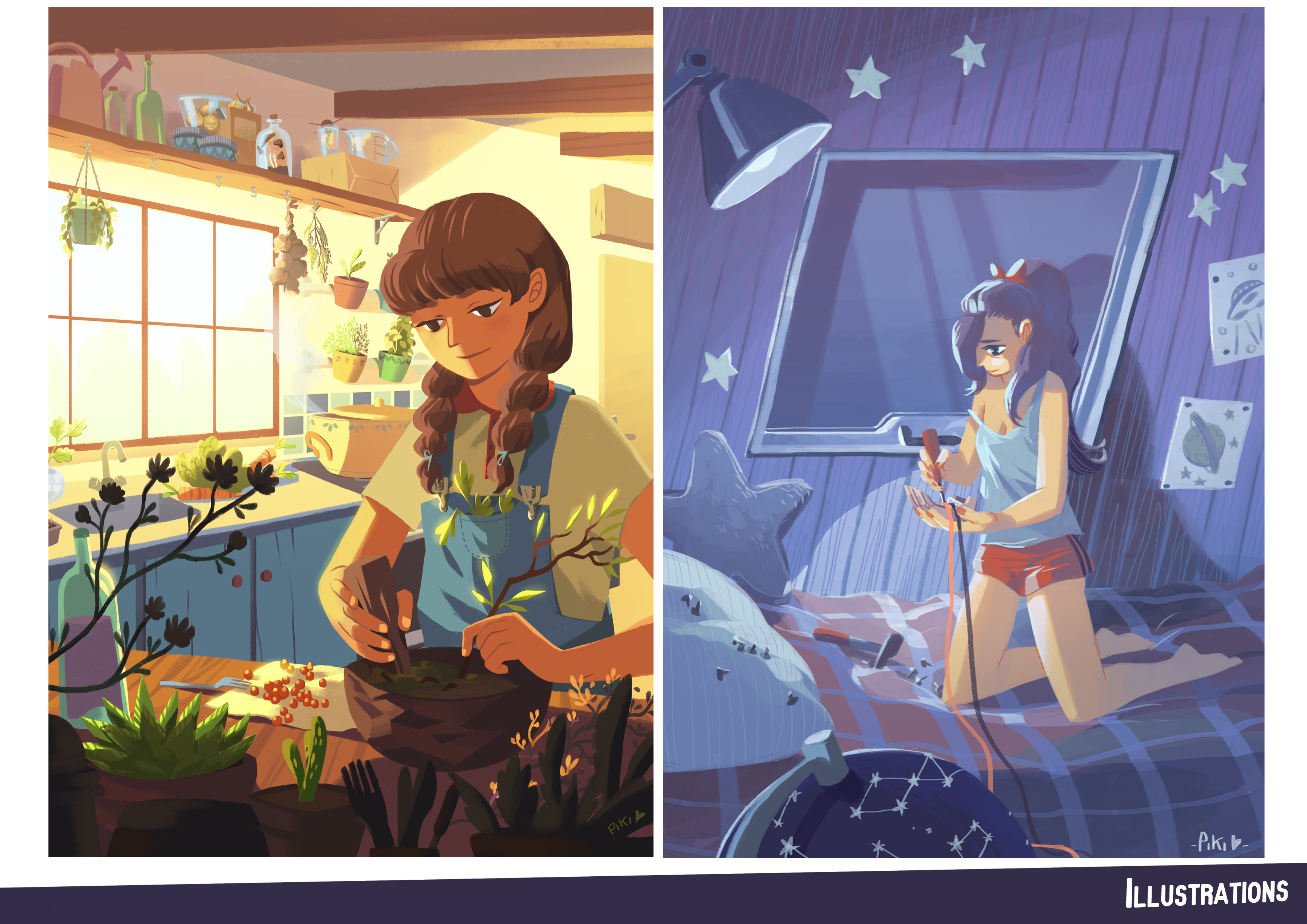 Personal work : various illustrations.