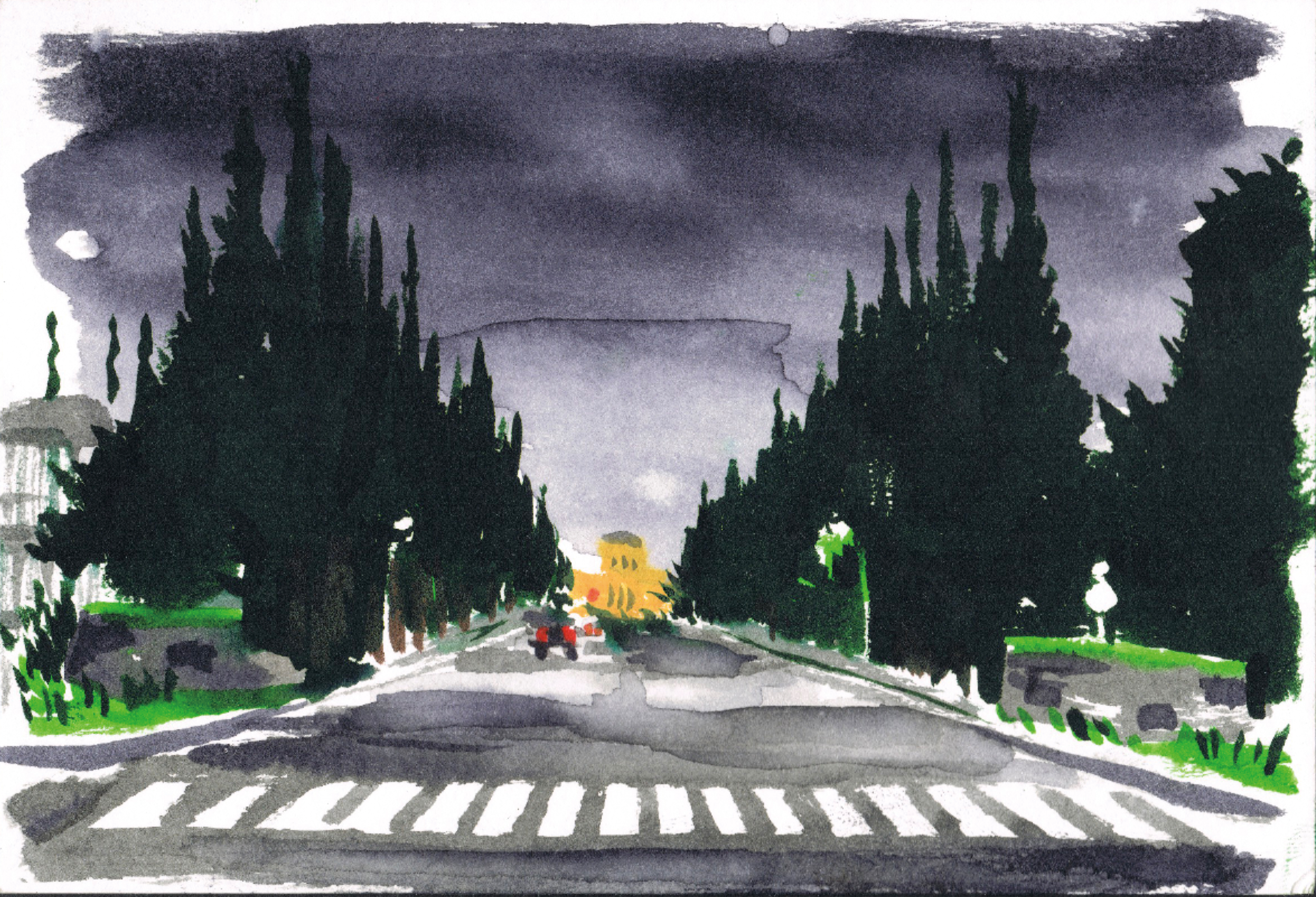 Painting sketch of Meijijingu Gaien