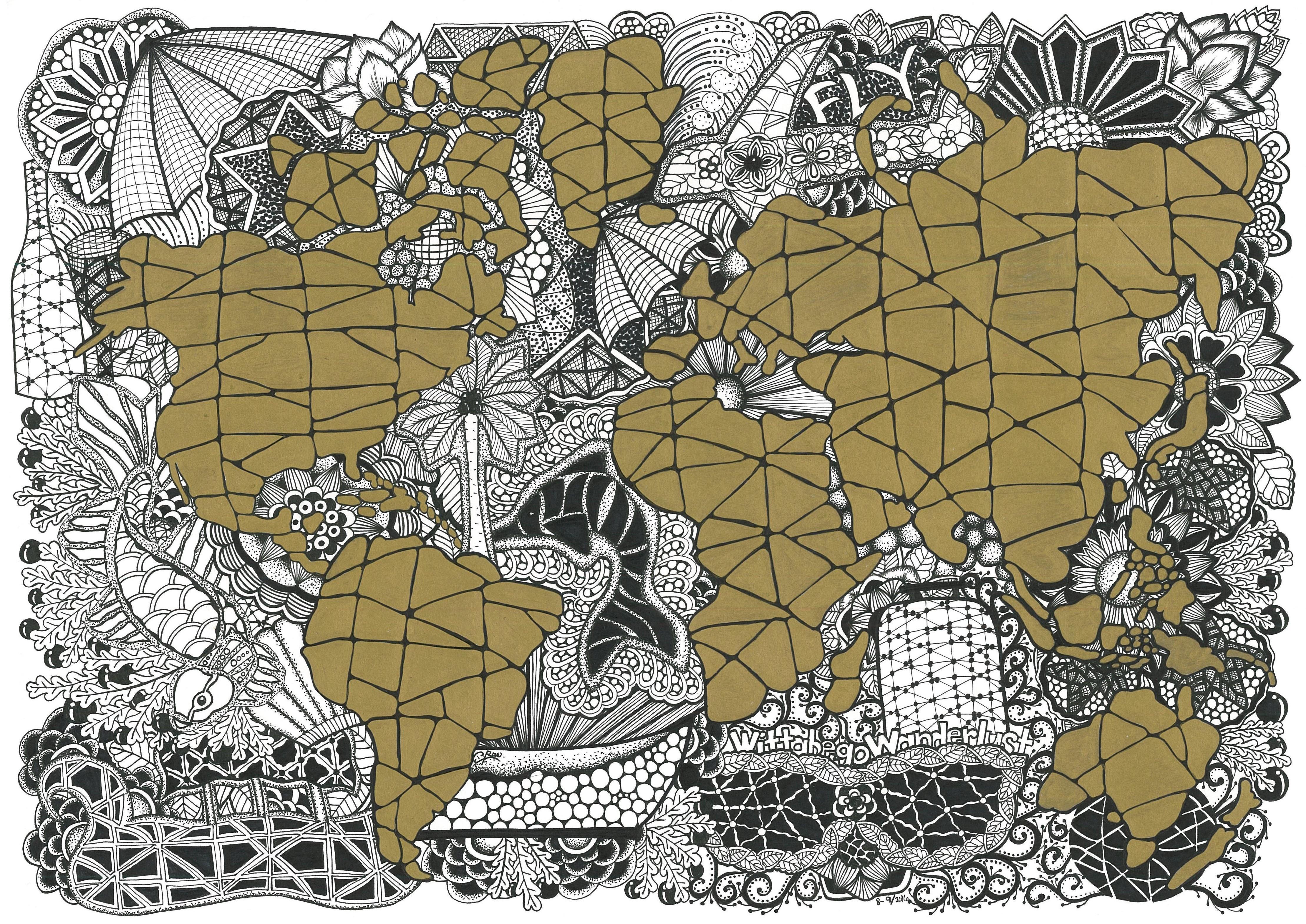 World Map Mandala TRAVEL stuff