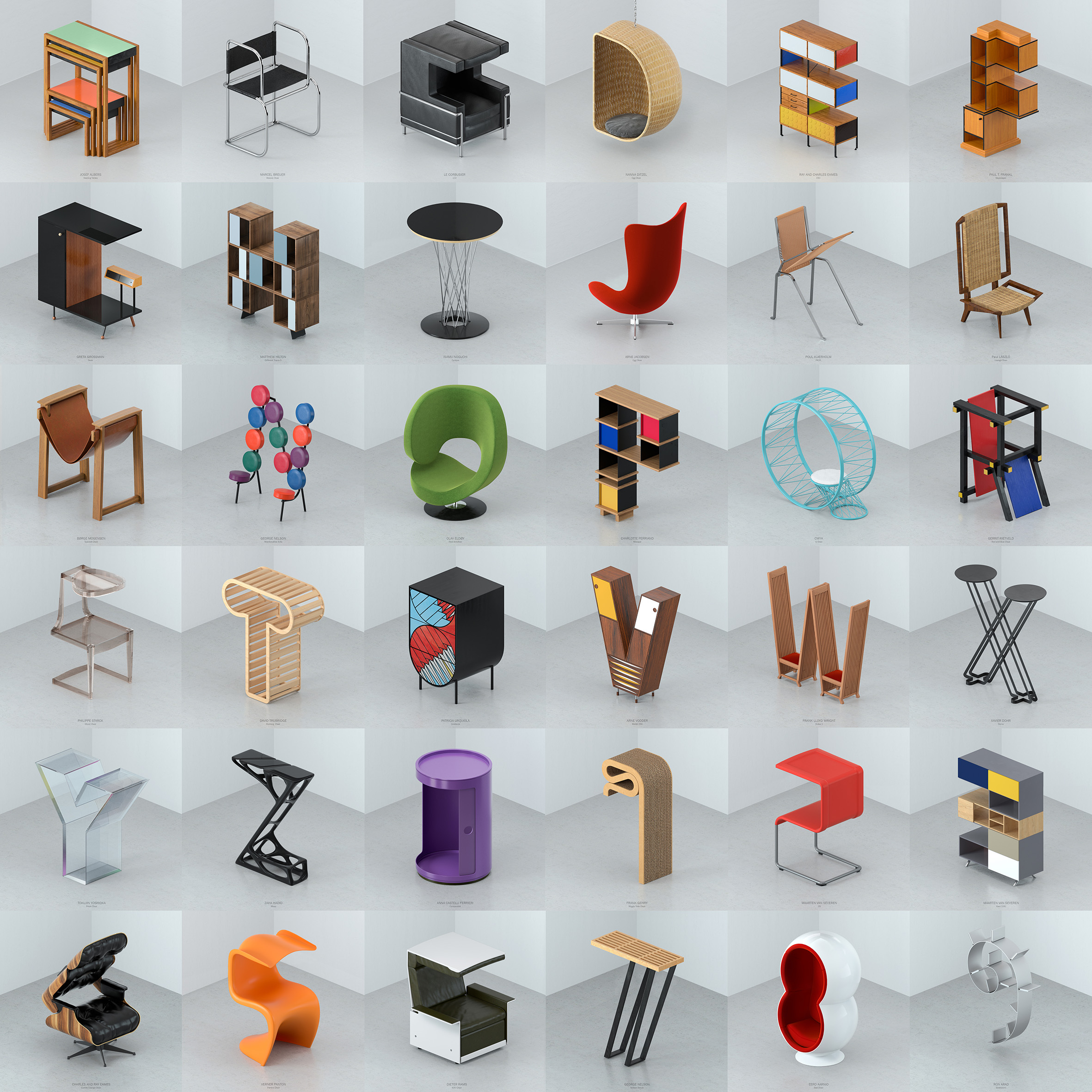 Alphabet of Iconic Furniture Designs