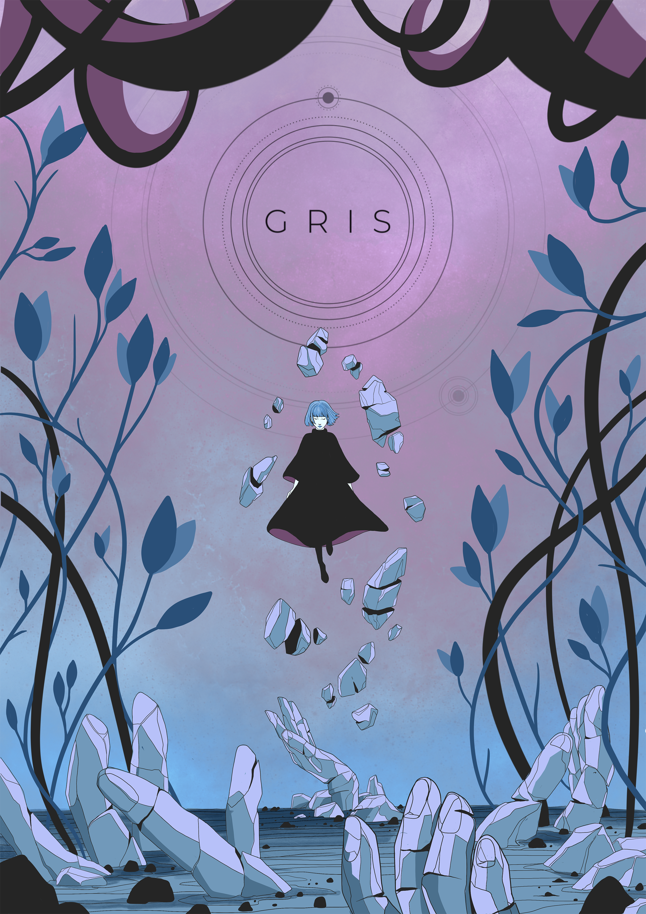 Poster Illustration for Gris Game