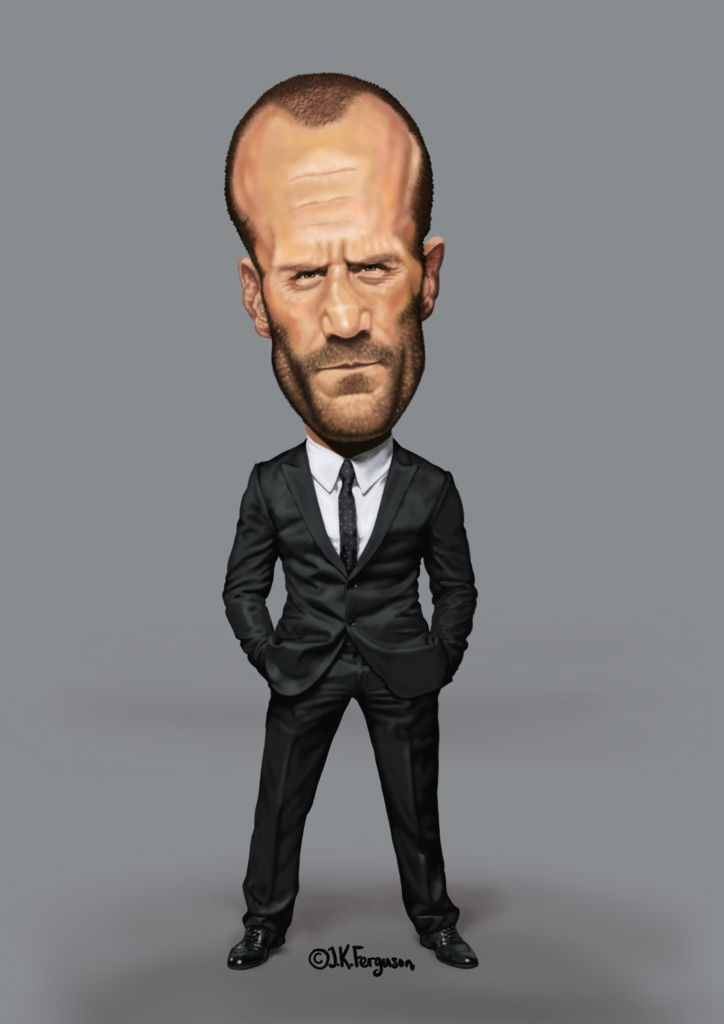 Caricature of Jason Statham