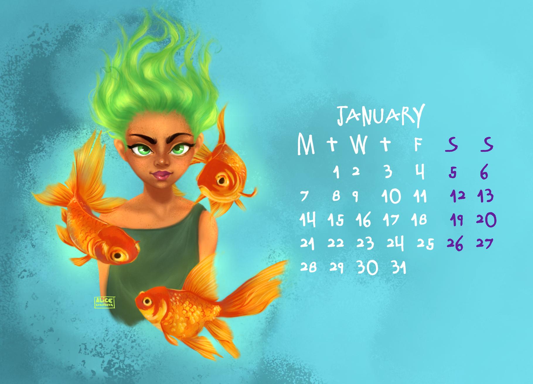 Calendar, January