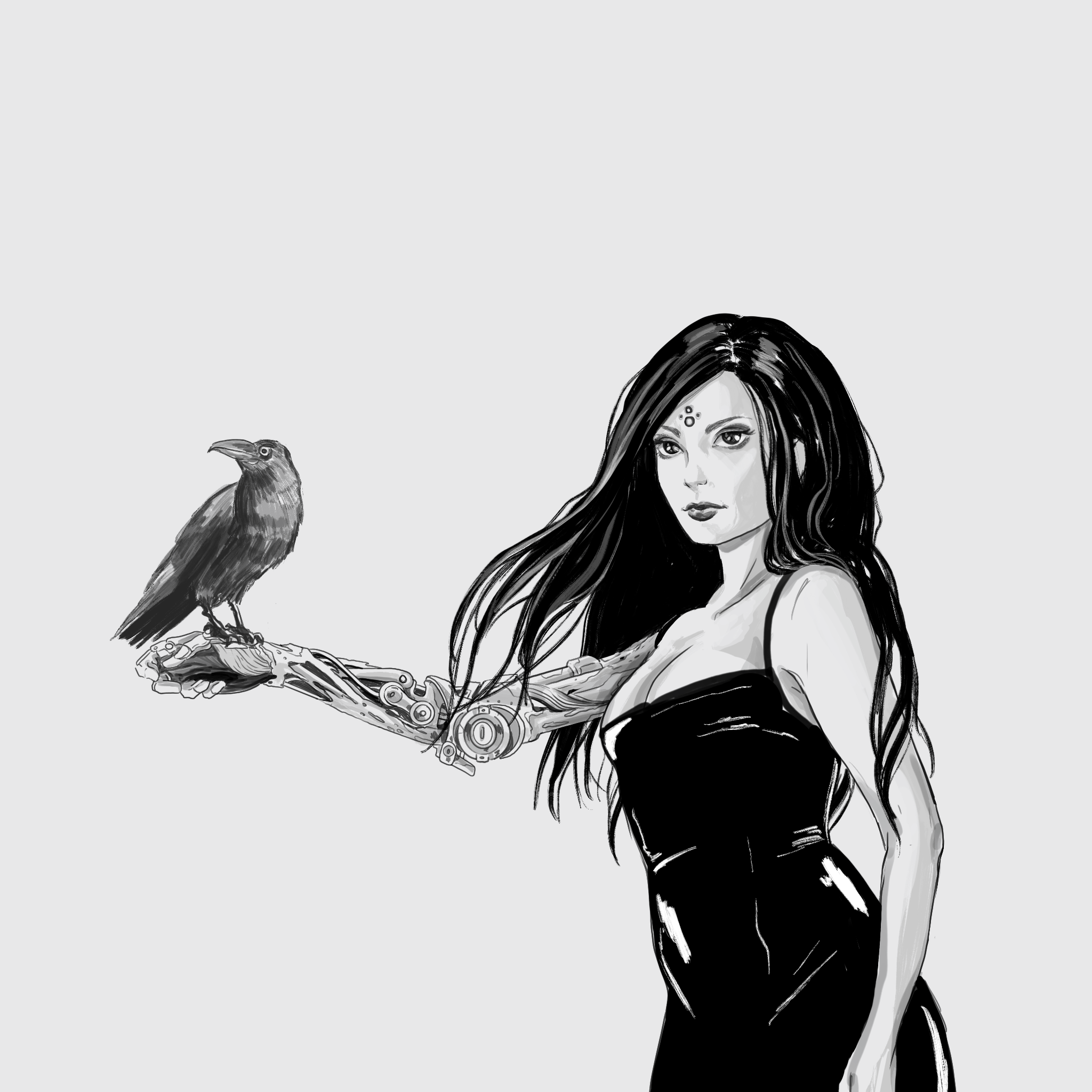Lady Death and the Crow