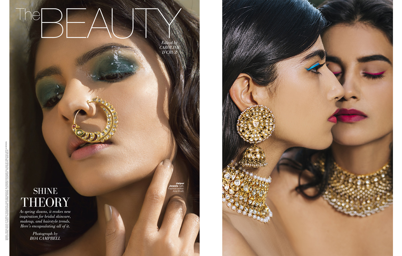 Beauty editorial for BRIDES TODAY magazine