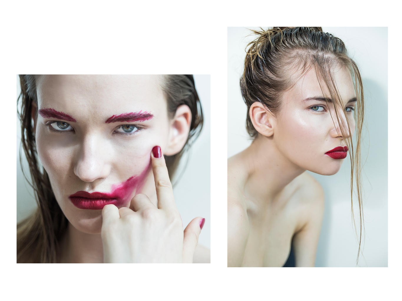 In The Red - beauty editorial