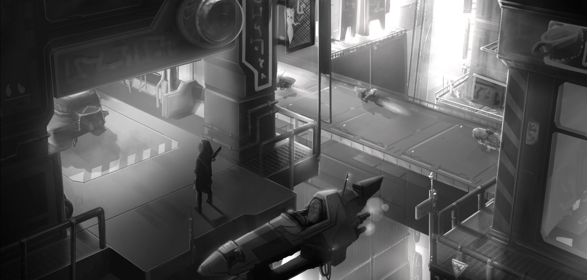 Concepting - Scifi spaceport