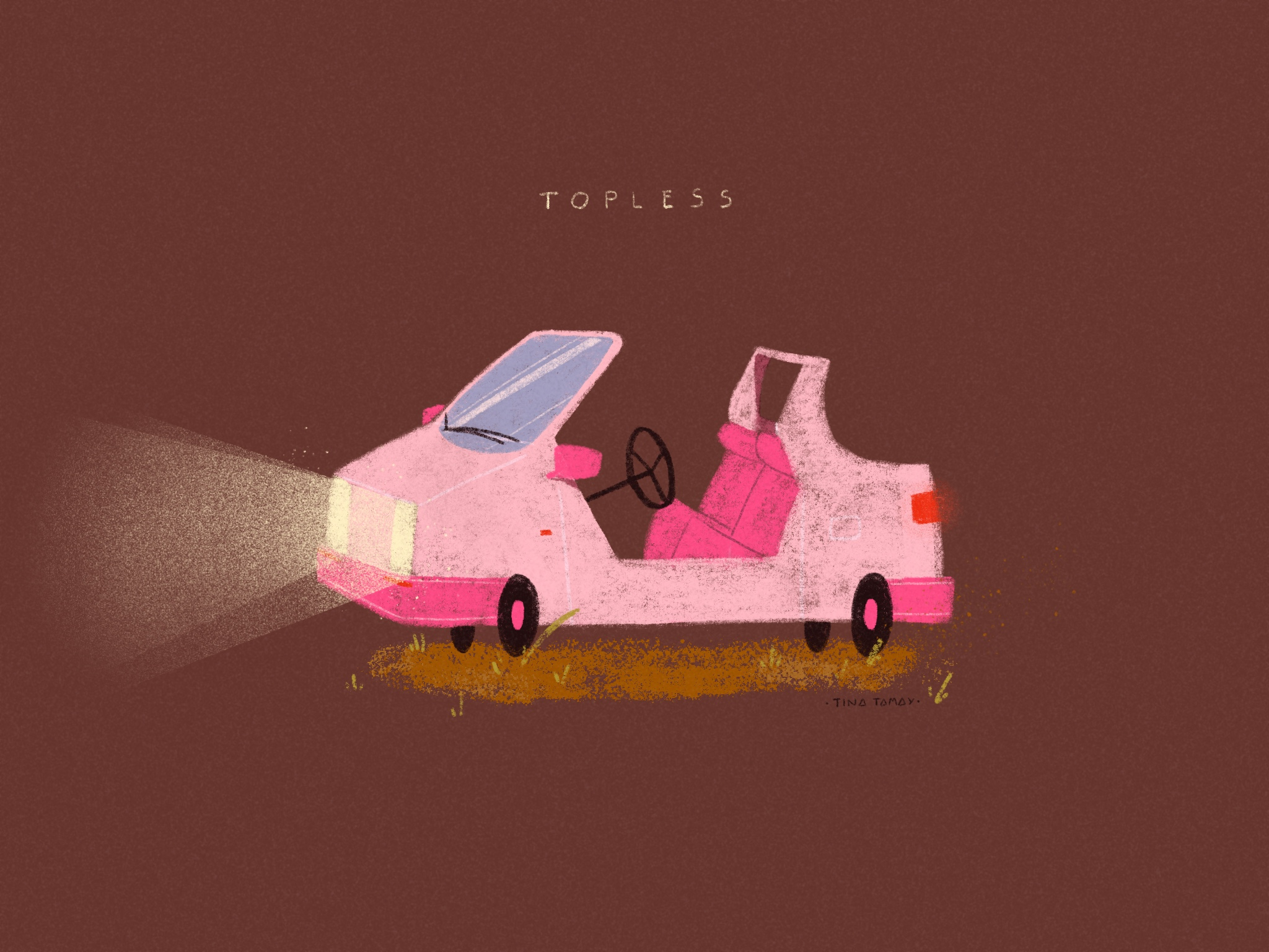 Topless car