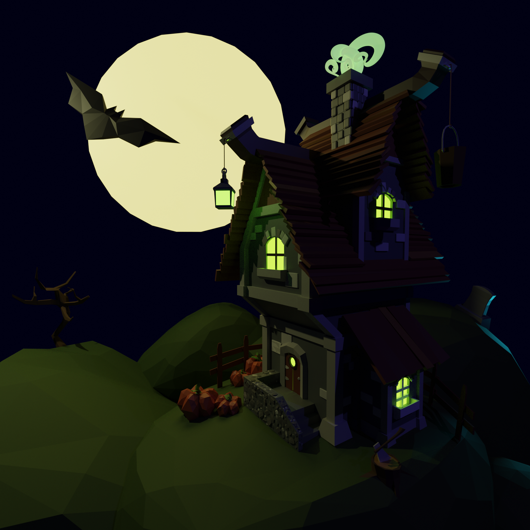 Low poly spooky House