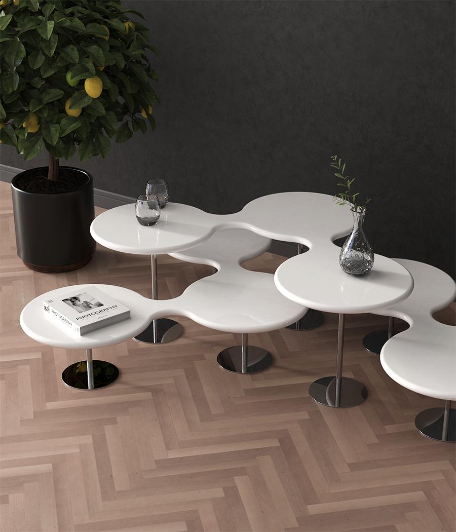 Molecules coffee tables