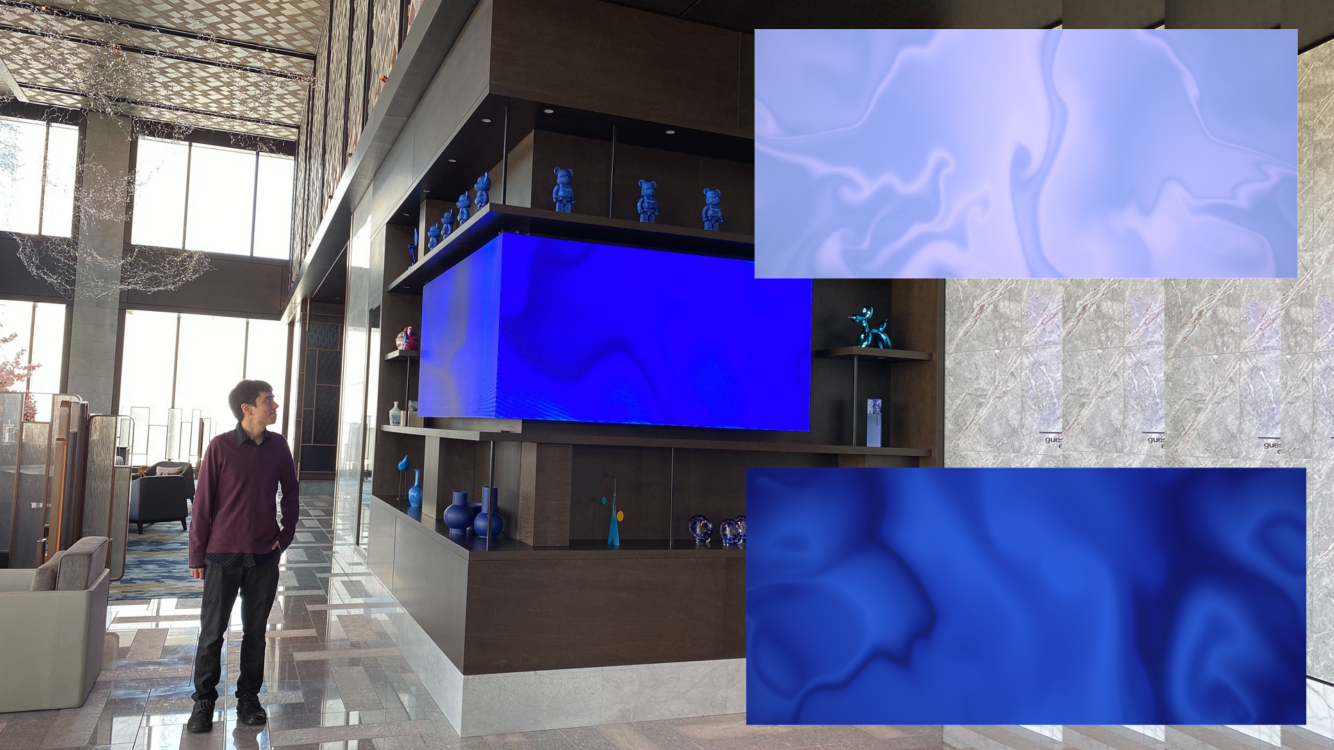 Interactive Video Wall in Designer Hotel