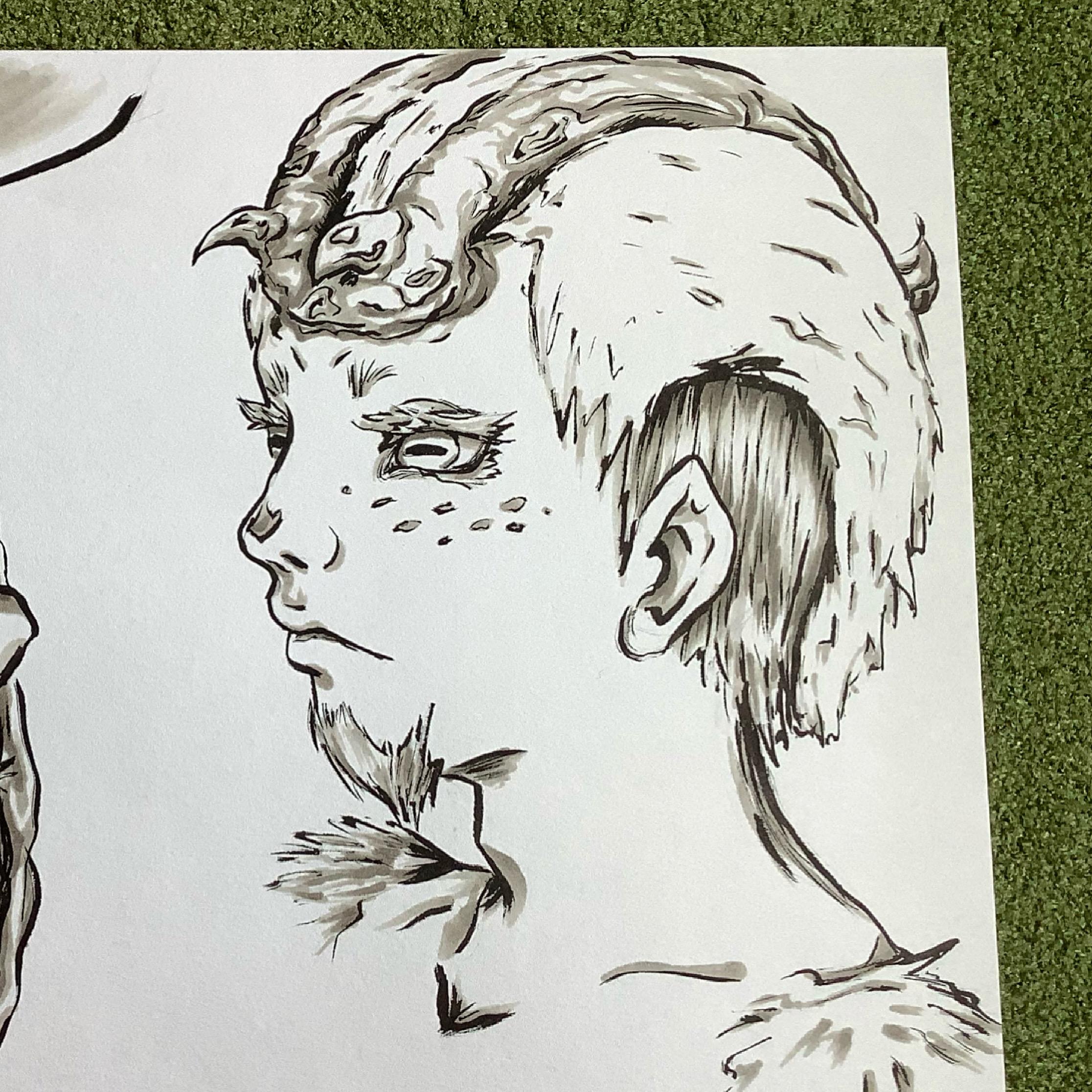 The Goat-boy Portrait