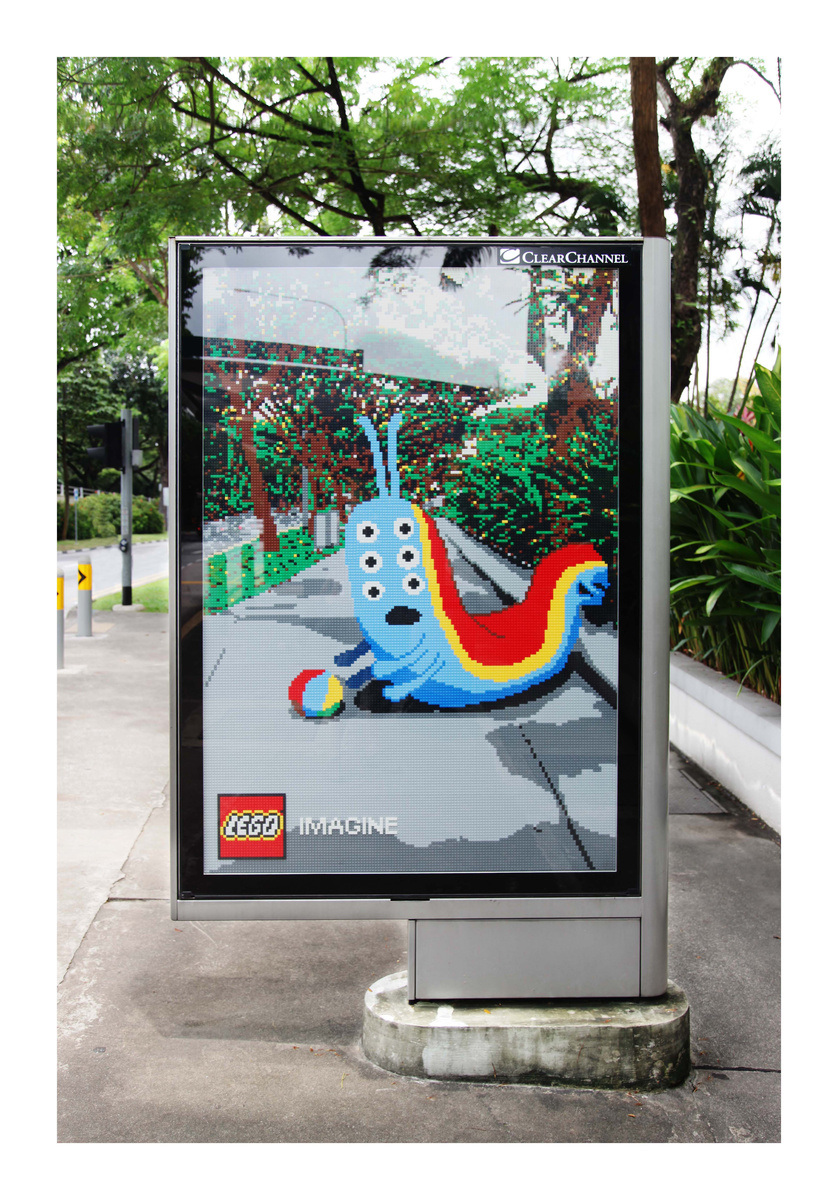 A fun advertising campaign for LEGO