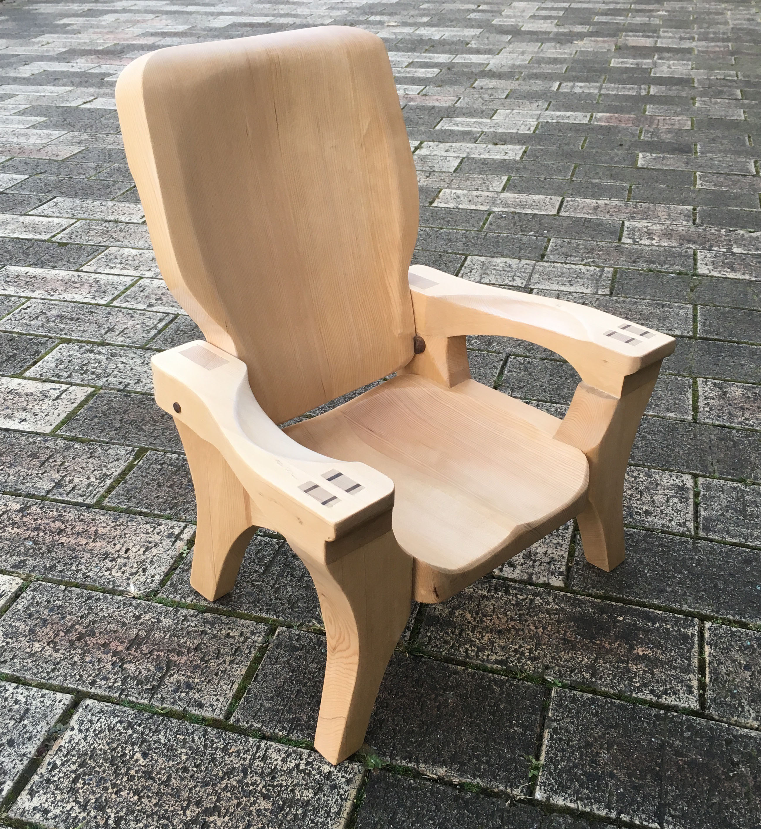 Full scale chair for 1/4 scale client