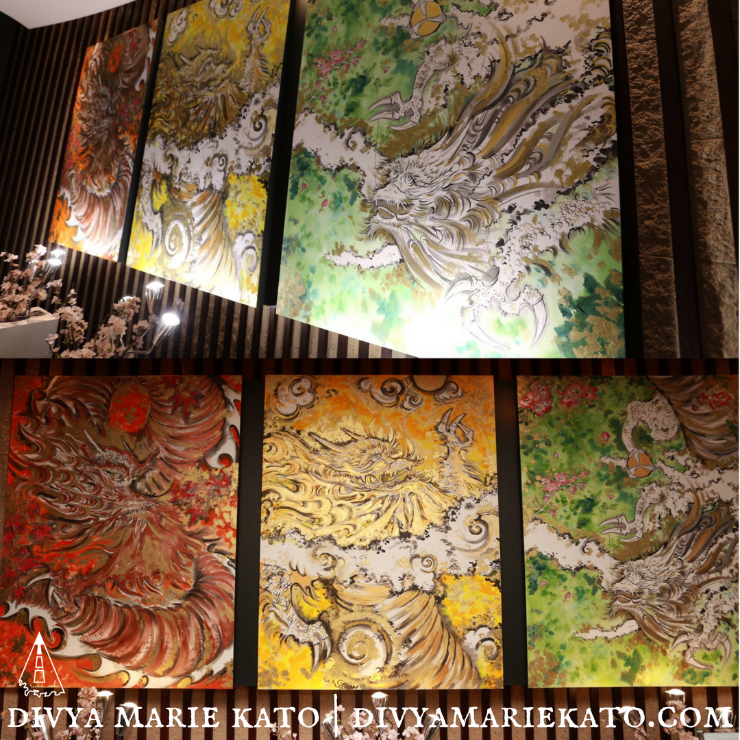 Commission ANA Intercontinental Tokyo, Dragon Through The Seasons, Divya Marie Kato 2018 ©