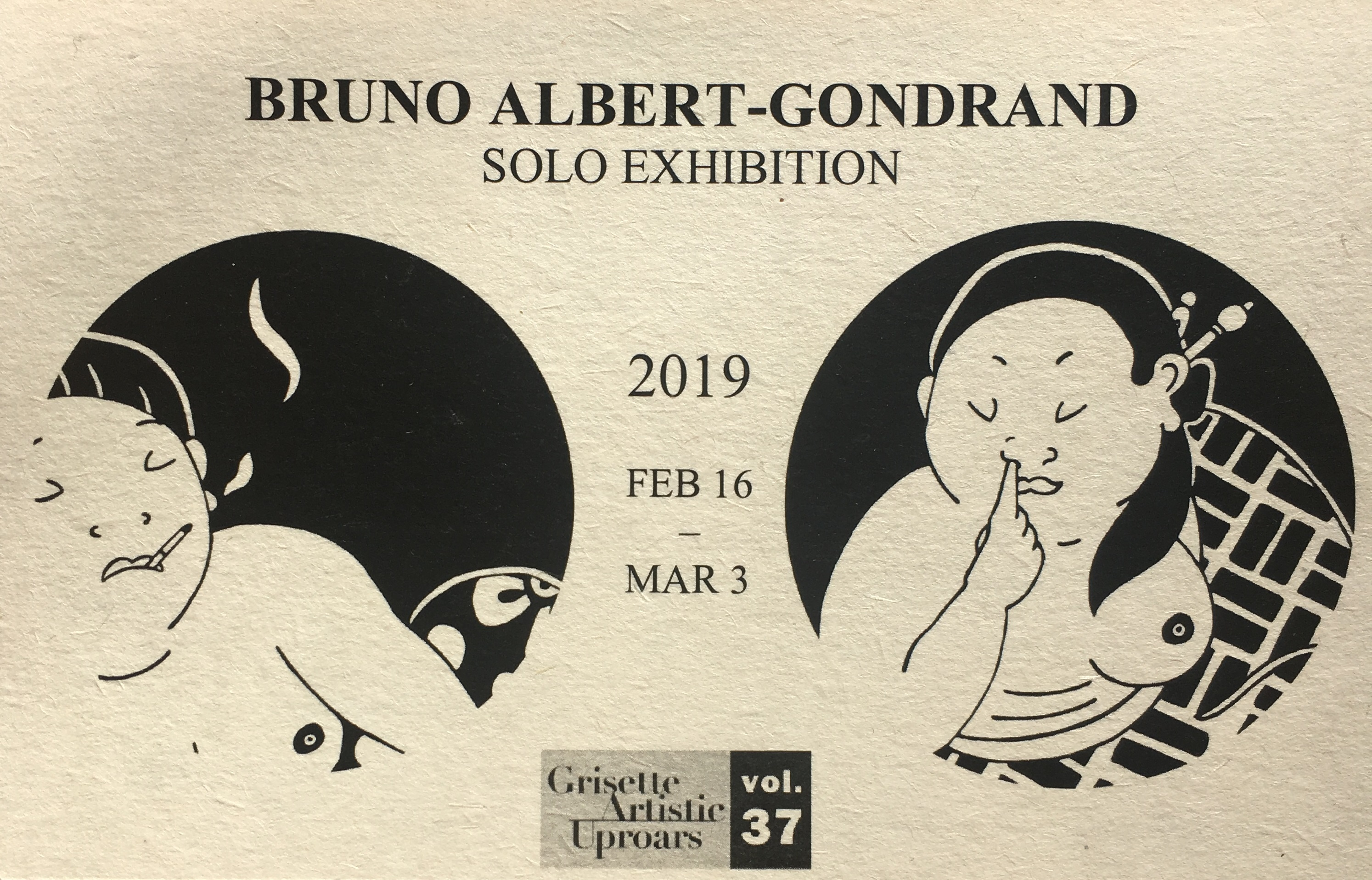 Bruno Albert-Gondrand Solo Exhibition