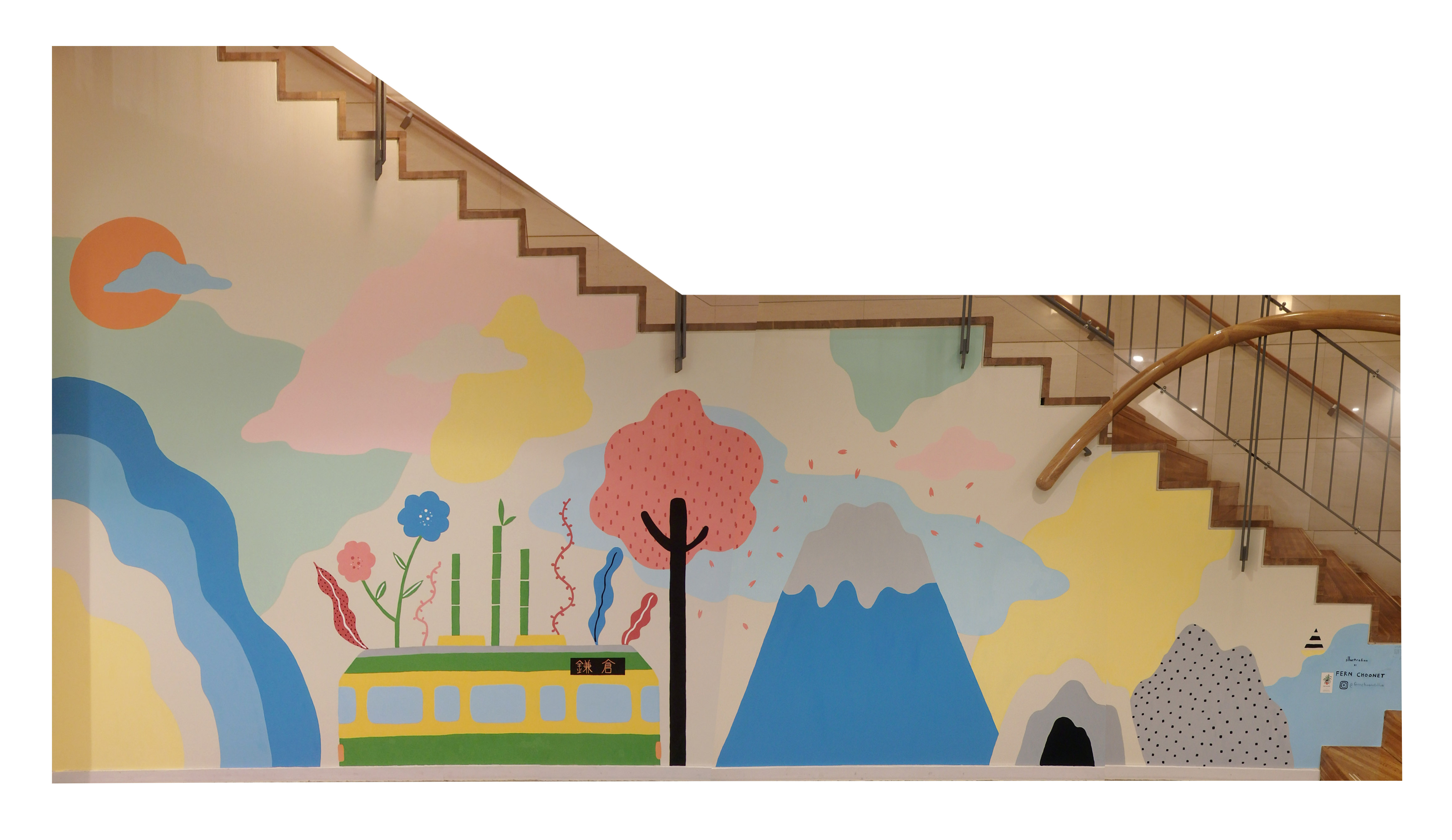 Mural at Webase Hostel