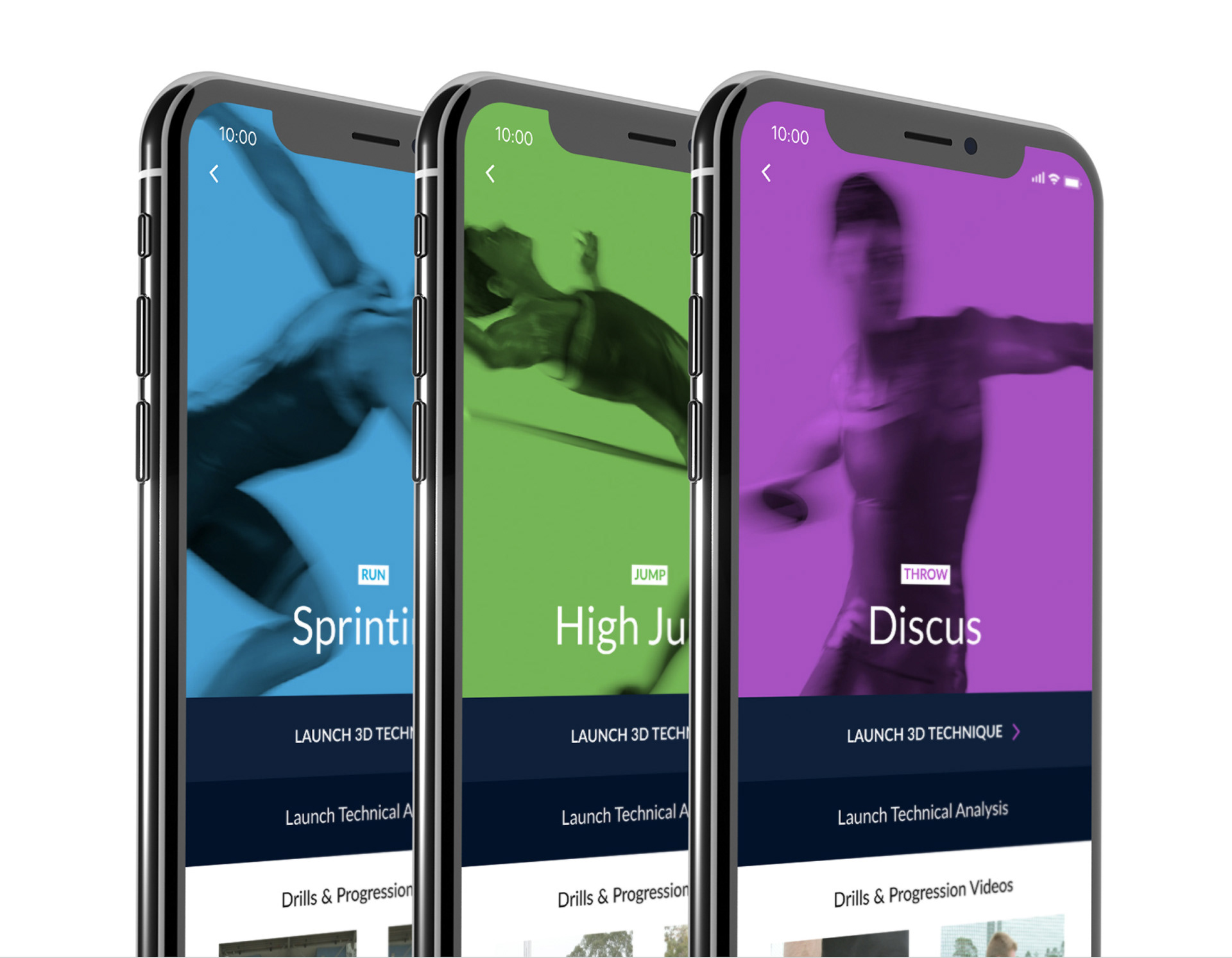 Athletics 3D - iOS App Design