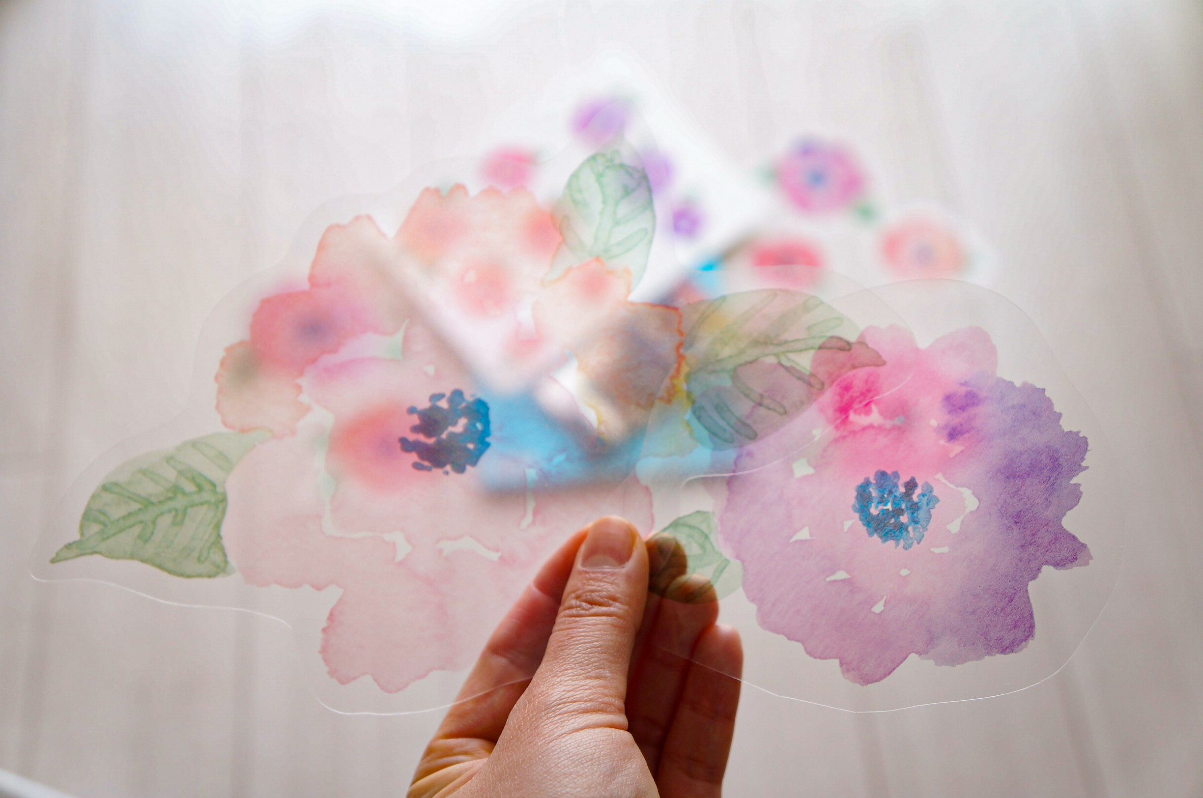 Watercolor Floral Wall Stickers