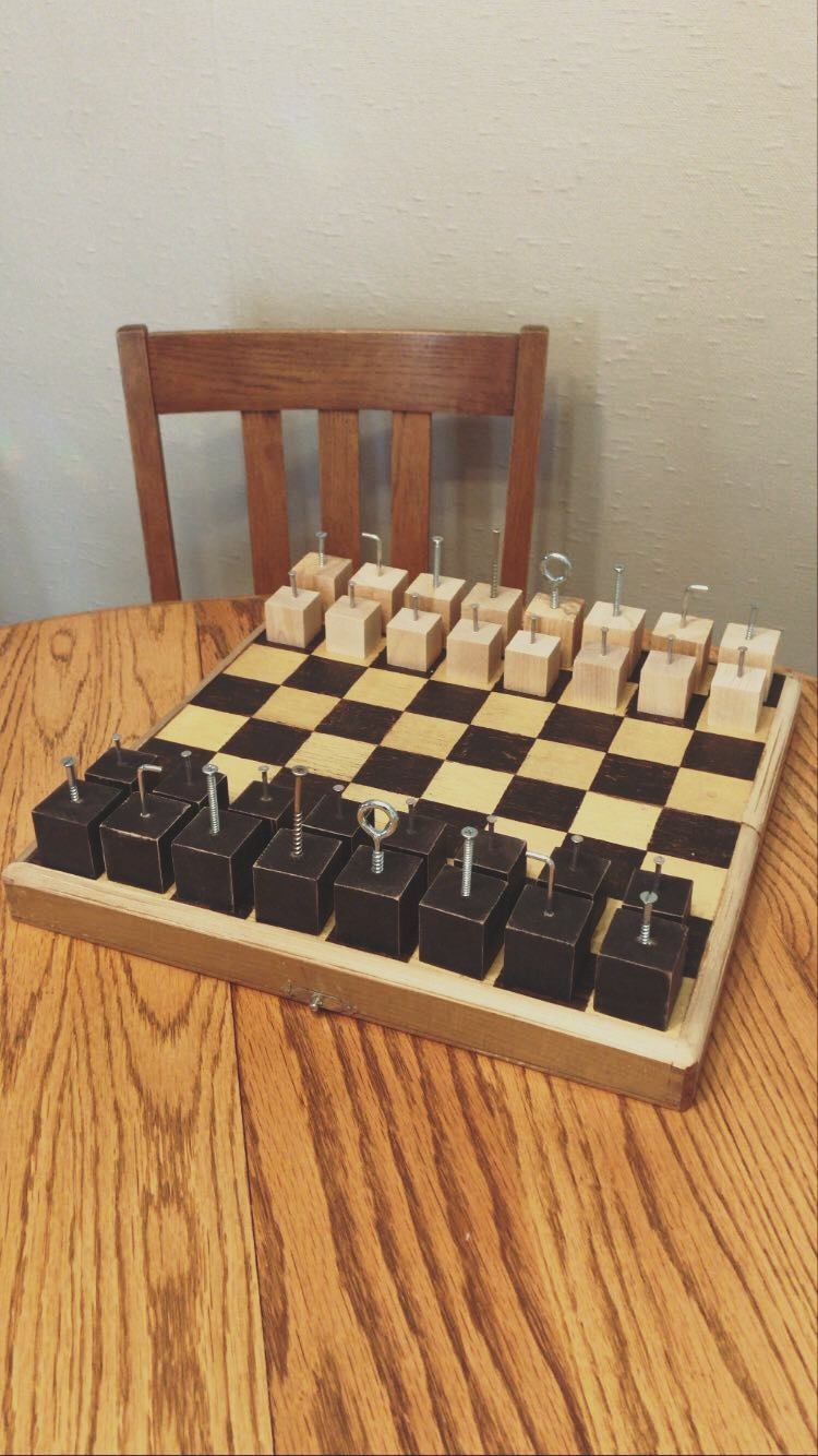 +Dada inspired Chess set