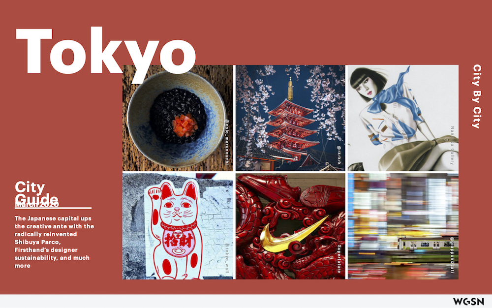 Tokyo City Guide, for WGSN