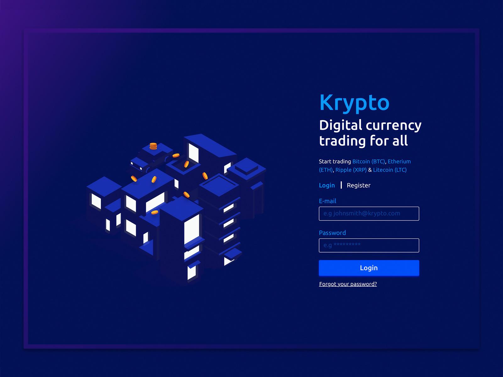 Krypto - Cryptocurrency exchange
