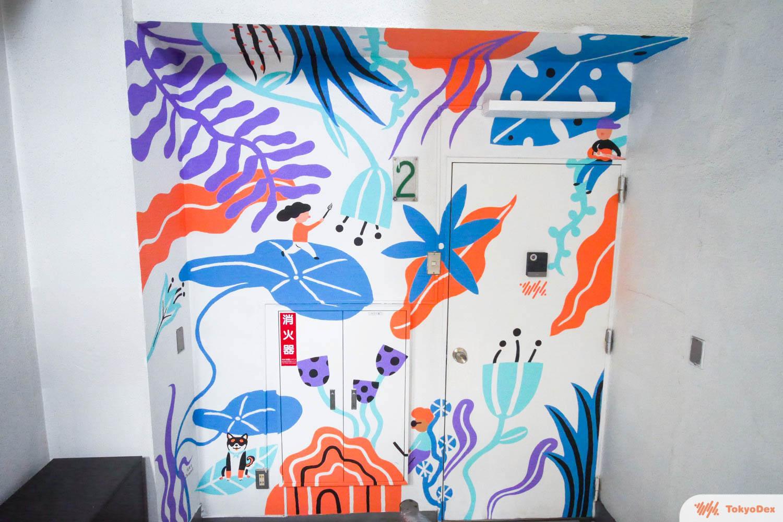 Wall mural at TokyoDex