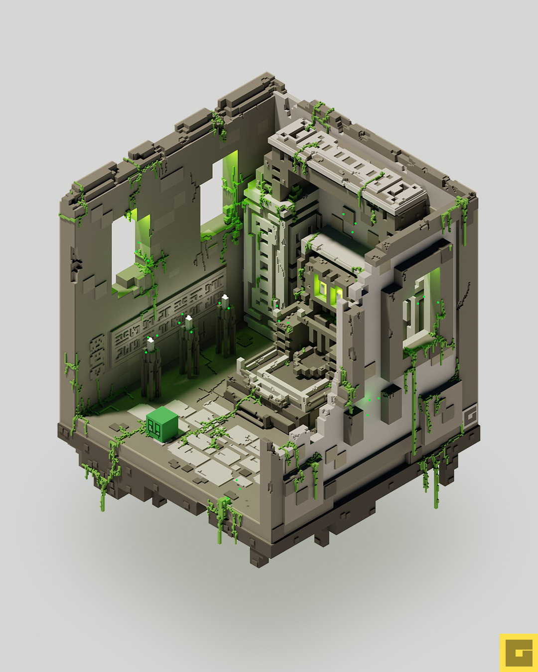 GHOUL Voxel Diorama 1