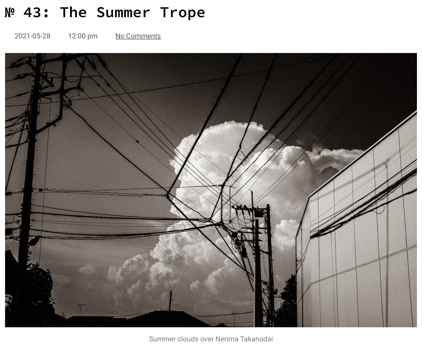 2021 Blogging Project: Somewhere in Japan